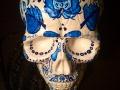 Декоративный череп расписанный под гжель