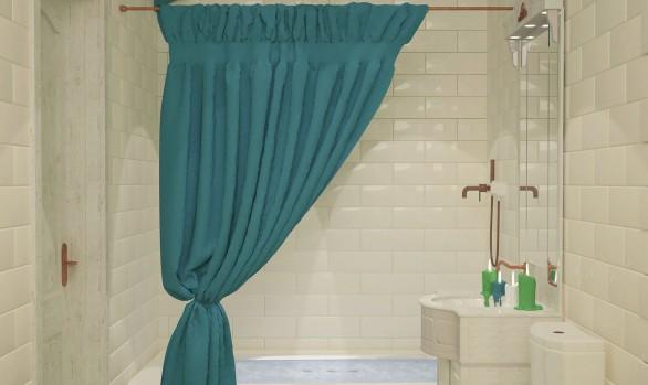 Дизайн-проект маленькой ванны, совмещенной с СУ