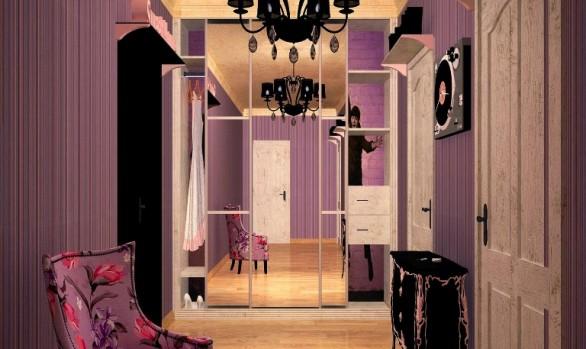 Дизайн-проект коридора однокомнатной квартиры